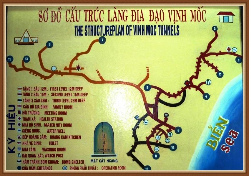 DMZ tour hue - Hue DMZ tour - vinh moc map
