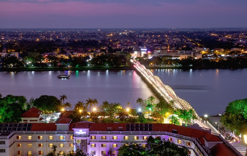 Night life in Hue city - thing to do in Hue